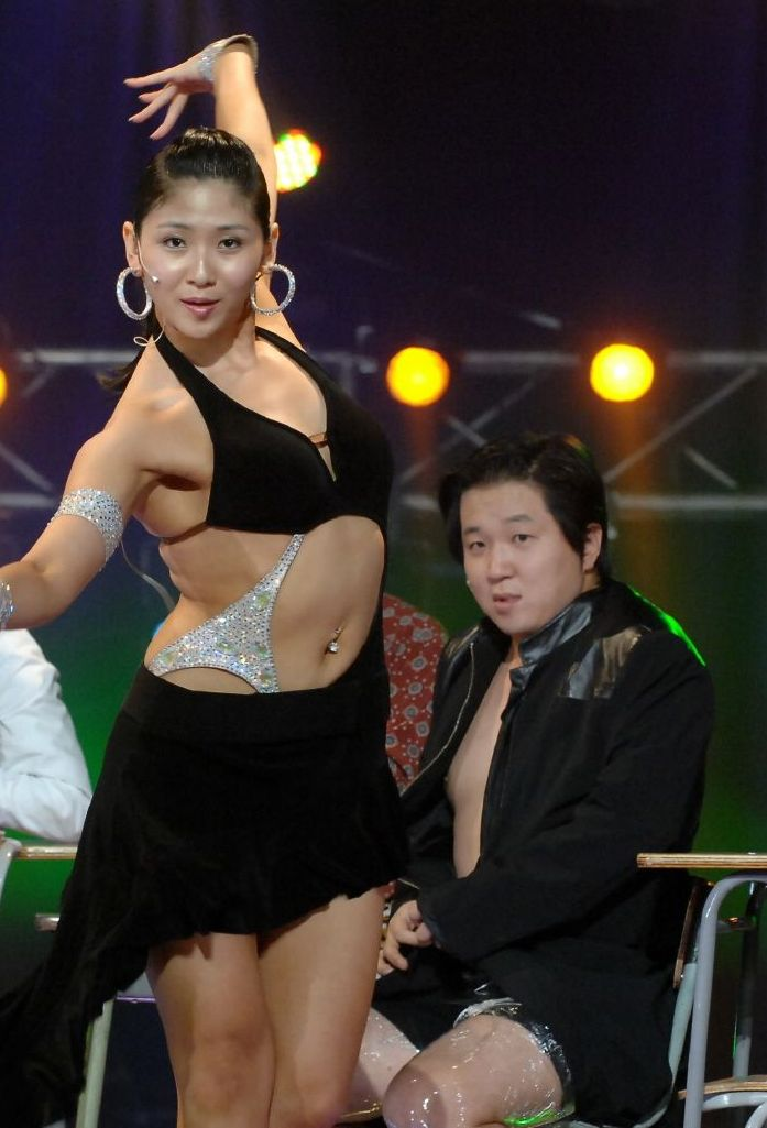 jung hyung don slips a nip and plastic wraps his legs
