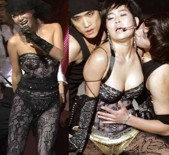"The ""gag woman,"" Jo Hye-ryeon makes fun of pop diva, Uhm Jung-hwa's fondness"
