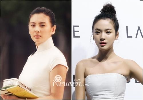double take kitty zhang yu qi vs song hye kyo popseoul