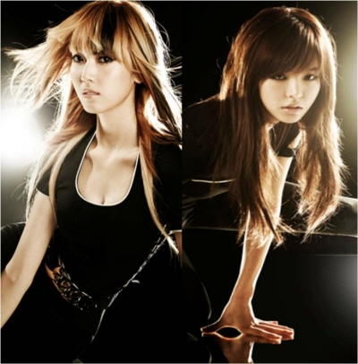 sunny snsd hair. haughty Jessica and Sunny,