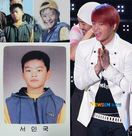 Photos of the     My Baby U     singer as a child have surfaced online    Seo In Guk Chubby